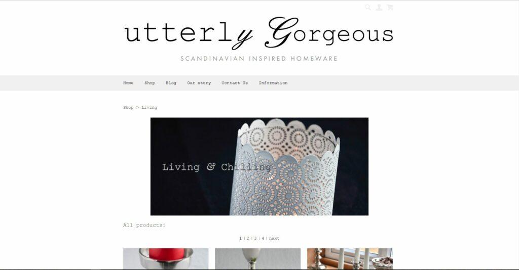 Create.net eCommerce Store - Utterly Gorgeous