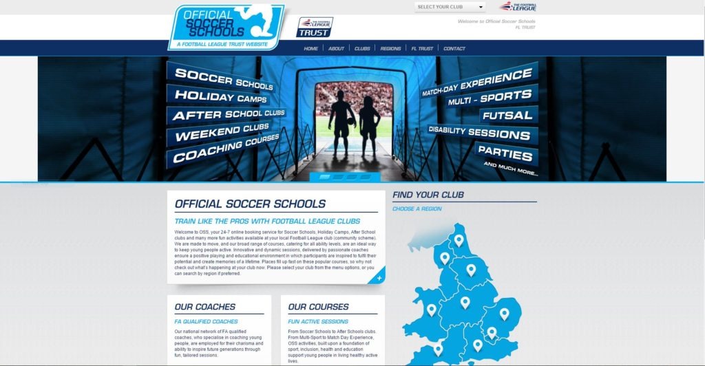 Magento eCommerce Store - Official Soccer Schools