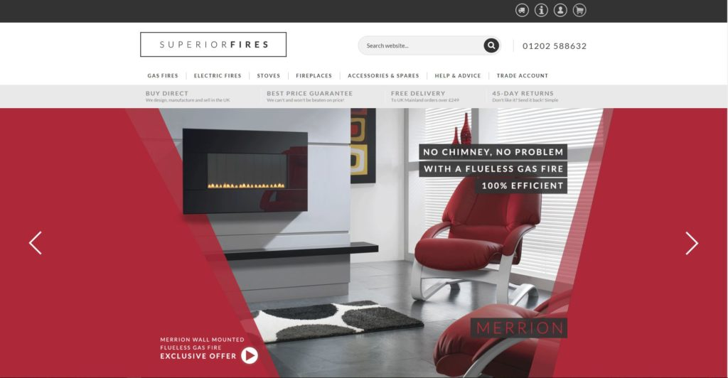 Magento eCommerce Store - Superior Fires