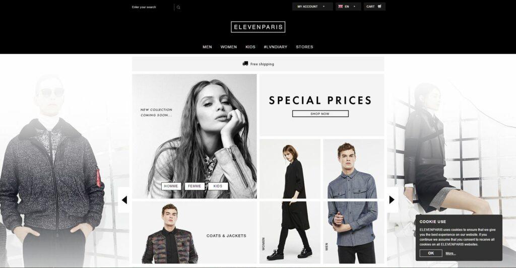 Prestashop eCommerce Store Example - ElevenParis
