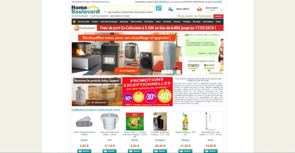 Prestashop eCommerce Store Example - Home Boulevard
