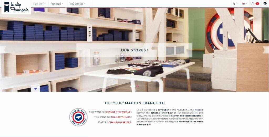 Prestashop eCommerce Store Example - le Slip Francais