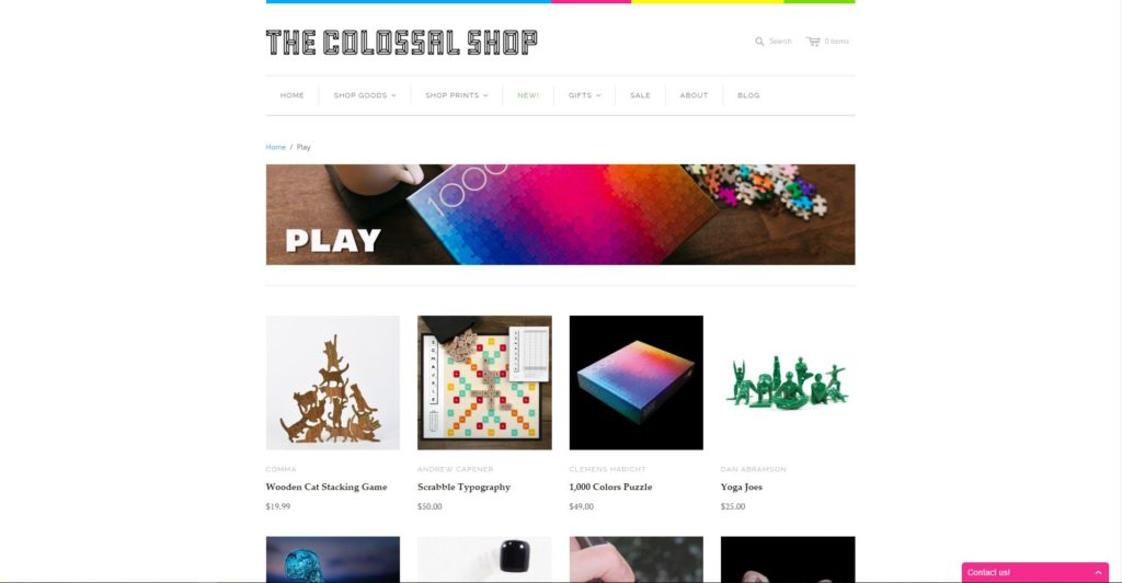 Shopify eCommerce Store - Colossal Shop