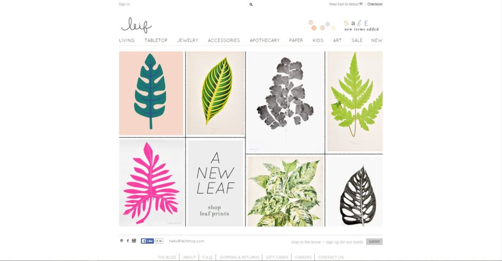 Shopify eCommerce Store - Leif Shop