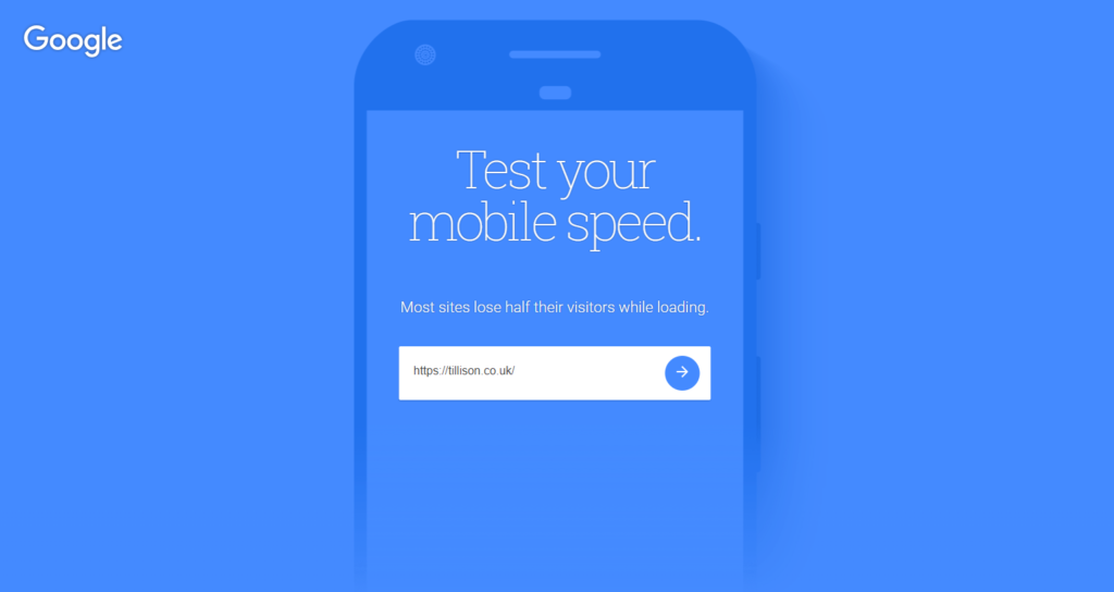 Google's Test My Site tool is a free and easy way of testing your site for mobile site speed optimisation