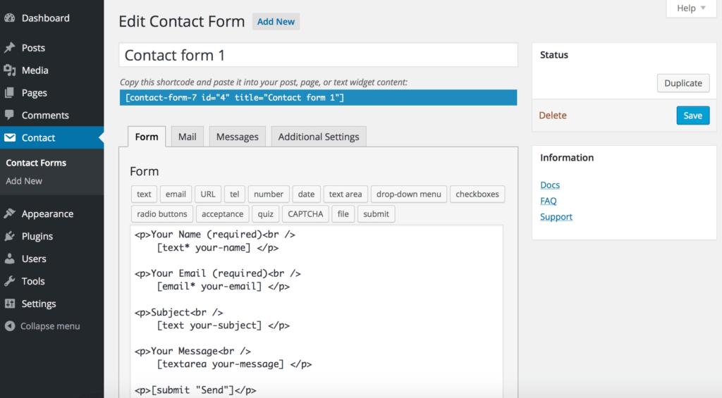 Contact Form 7 - WordPress SEO Plugins - Tillison Consulting